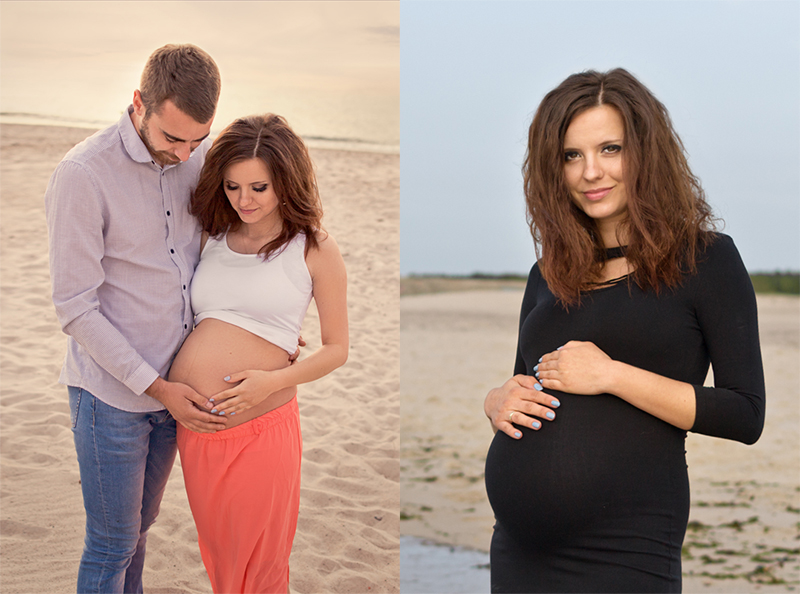 Sesja ciążowa nad morzem - Ustka Słupsk i okolice